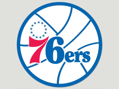 Philadelphia 76ers Die Cut Color Decal 8in X 8in