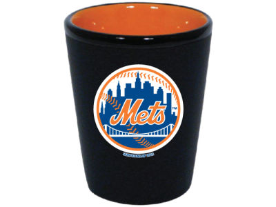 New York Mets 2 Tone Ceramic Collectors Glass