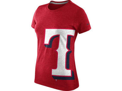 Texas Rangers Nike MLB Women's Tri-Blend Balt T-Shirt