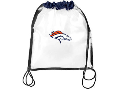 Denver Broncos Clear Drawstring Backpack