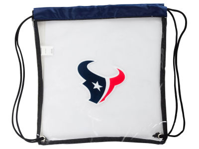 Houston Texans Clear Drawstring Backpack