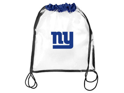 New York Giants Clear Drawstring Backpack