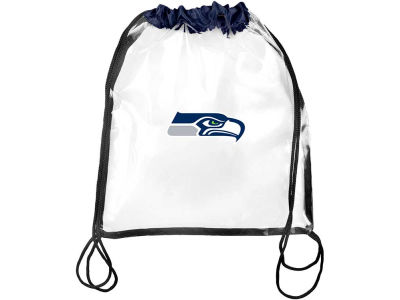 Seattle Seahawks Clear Drawstring Backpack