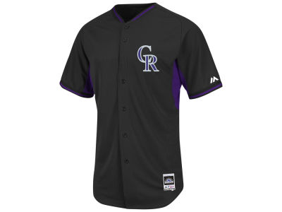 Colorado Rockies Majestic MLB Men's Cool Base Batting Practice Jersey