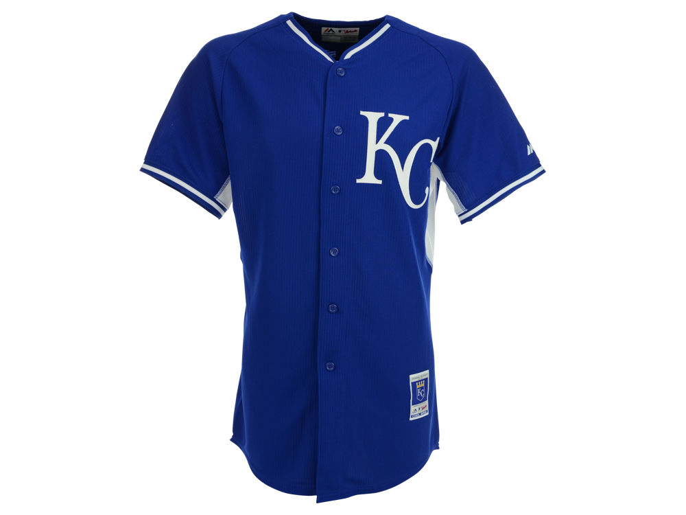 new product 6b010 b1105 Kansas City Royals Majestic MLB Men's Cool Base Batting Practice Jersey