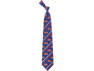 Ole Miss Rebels Necktie Cambridge Stripe Woven Silk