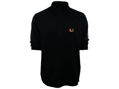 Miami Hurricanes NCAA Metro Text Quarter Zip Pullover