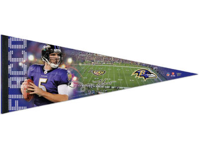 Baltimore Ravens Joe Flacco 12x30 Premium Player Pennant