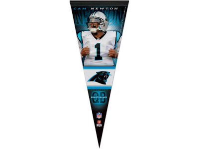 Carolina Panthers Cam Newton 12x30 Premium Player Pennant