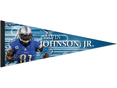 Detroit Lions Calvin Johnson 12x30 Premium Player Pennant