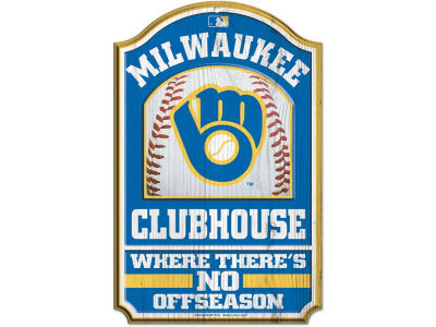 Milwaukee Brewers 11x17 Wood Sign