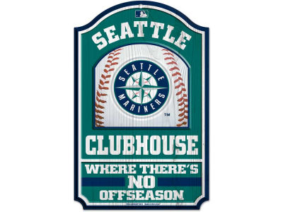Seattle Mariners 11x17 Wood Sign