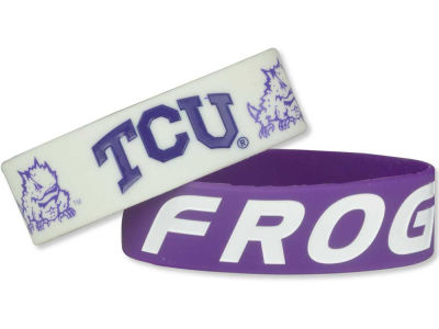 Texas Christian Horned Frogs 2-pack Wide Bracelet
