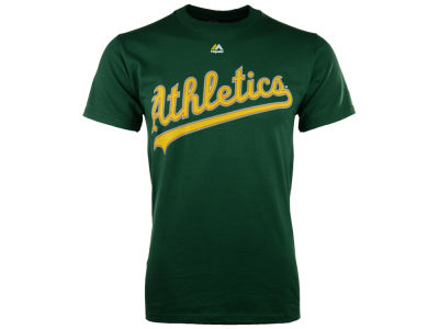 Oakland Athletics Majestic MLB Men's Official Wordmark Team T-Shirt