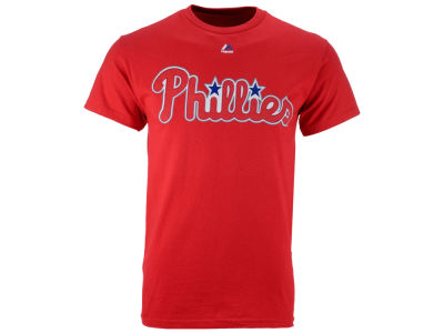 Philadelphia Phillies Majestic MLB Men's Official Wordmark Team T-Shirt