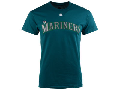 Seattle Mariners Majestic MLB Men's Official Wordmark T-Shirt