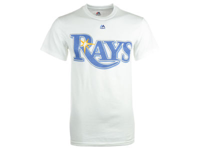 Tampa Bay Rays Majestic MLB Men's Official Wordmark Team T-Shirt