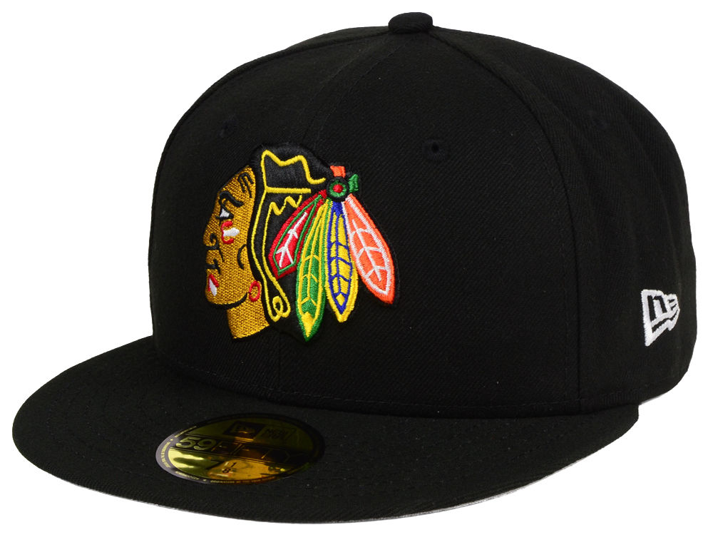 Chicago Blackhawks New Era NHL Basic 59FIFTY Cap  6d8137588a3a