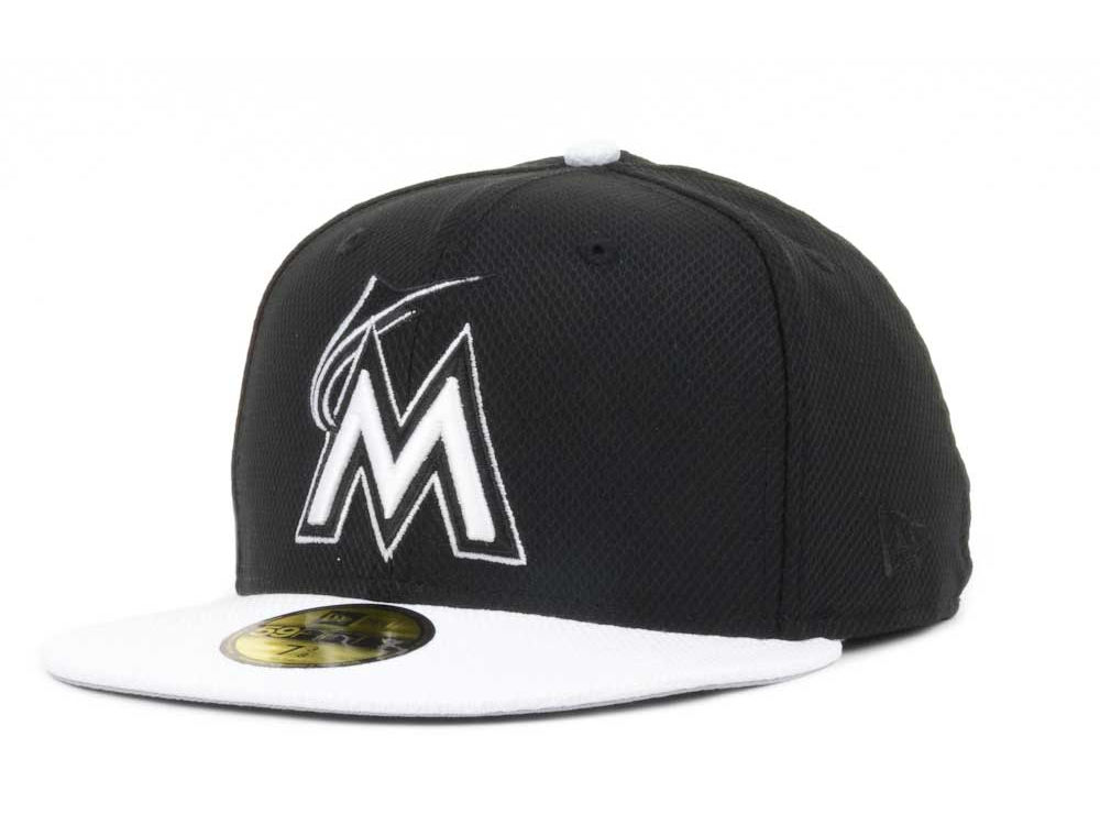 Miami Marlins New Era MLB Diamond Era Hookturn 59FIFTY Cap  6e73cd86bd8d