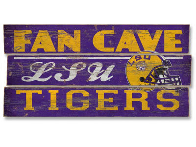 LSU Tigers Plank Wood Sign