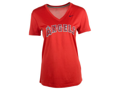 Los Angeles Angels Nike MLB Women's Dri Fit Legend V-Neck T-Shirt