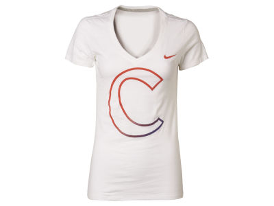 Clemson Tigers Nike NCAA Womens Gradient Mid V-neck T-Shirt