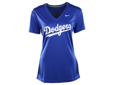 Los Angeles Dodgers Nike MLB Women's Dri Fit Legend V-Neck T-Shirt