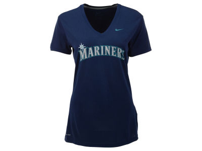 Seattle Mariners Nike MLB Women's Dri Fit Legend V-Neck T-Shirt