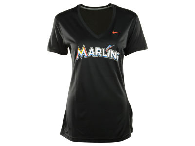 Miami Marlins Nike MLB Women's Dri Fit Legend V-Neck T-Shirt