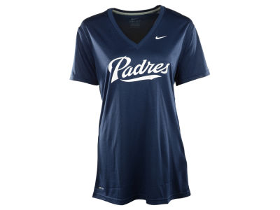 San Diego Padres Nike MLB Women's Dri Fit Legend V-Neck T-Shirt