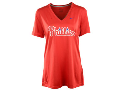 Philadelphia Phillies Nike MLB Women's Dri Fit Legend V-Neck T-Shirt
