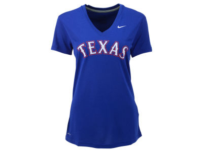 Texas Rangers Nike MLB Women's Dri Fit Legend V-Neck T-Shirt