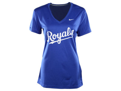 Kansas City Royals Nike MLB Women's Dri Fit Legend V-Neck T-Shirt