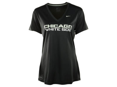 Chicago White Sox Nike MLB Women's Dri Fit Legend V-Neck T-Shirt