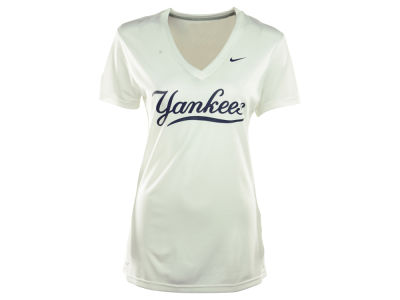 New York Yankees Nike MLB Women's Dri Fit Legend V-Neck T-Shirt
