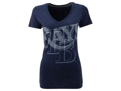Tampa Bay Rays Nike MLB Women's Mid V-Neck Tri-Blend T-Shirt