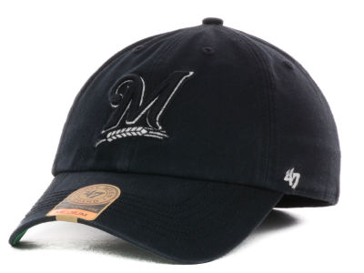 Milwaukee Brewers '47 MLB Black Out '47 FRANCHISE Cap