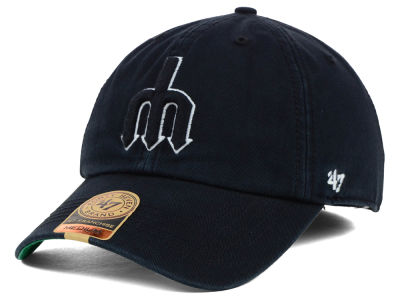 Seattle Mariners '47 MLB Black Out '47 FRANCHISE Cap