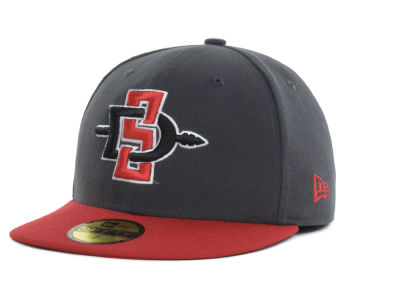 San Diego State Aztecs New Era NCAA 2 Tone Graphite and Team Color 59FIFTY Cap