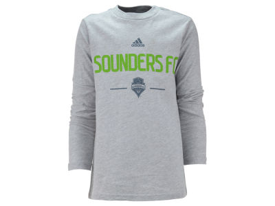 Seattle Sounders FC MLS Youth Long Sleeve Team and Logo Basic T-Shirt