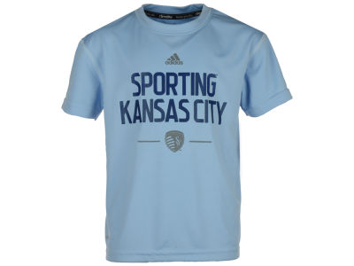Sporting Kansas City MLS Kids Team and Logo Climalite T-Shirt