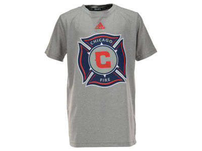 Chicago Fire adidas MLS Youth Primary Logo Climalite T-Shirt