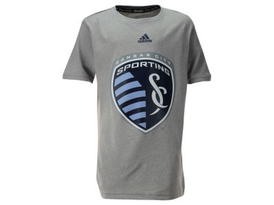 Sporting Kansas City adidas MLS Youth Primary Logo Climalite T-Shirt