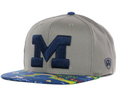 Michigan Wolverines Top of the World NCAA Shoreline Snapback Cap