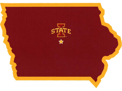 Iowa State Cyclones State with Mascot Decal