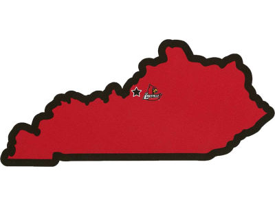 Louisville Cardinals State with Mascot Decal