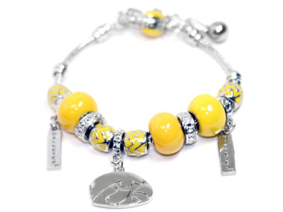 Iowa Hawkeyes Beaded Bracelet
