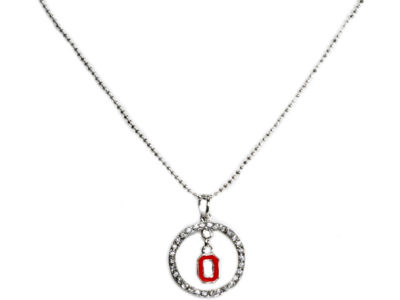 Ohio State Buckeyes Circle Crystal Necklace