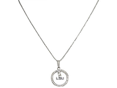 LSU Tigers Circle Crystal Necklace