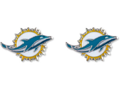 Miami Dolphins Logo Post Earrings